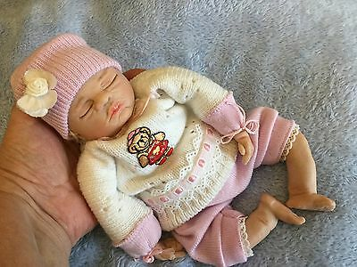 "Ooak Sculpted Infant Girl  Doll..."" Bonnie """