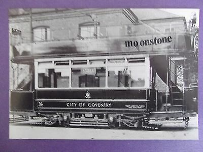 OLD POSTCARD OF COVENTRY TRAM c.1915   RPT..