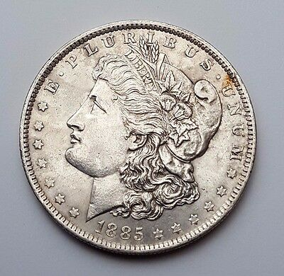 U.s.a - Dated 1885 - Silver - Morgan - $1 One Dollar Coin - American Silver Coin