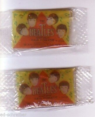The Beatles / Original 1964 / Hair  Pomade / Two Sealed Packets / Still Fresh!