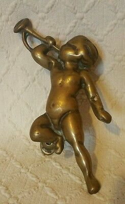 Vintage Brass Cherub Door Knocker