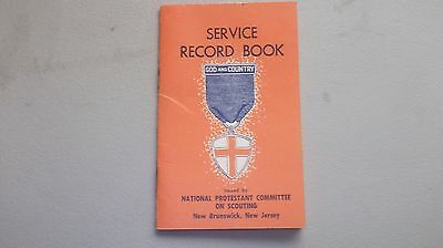 Vintage Scout Service Record Book National Protestant Committee On Scouting