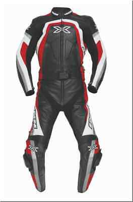IXS Charger Lady Two Piece Red Leather Motorcycle Racing Combi 34 Size