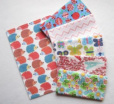 6 New Baby Girl Double Flannel Burp Cloths Lot Shower Gift