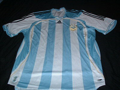 Argentina South America Soccer Football XL Extra Large Mans Adidas Home Jersey