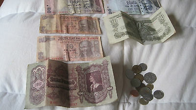 Foreign Currency... Hungary, India Paper And Mixed Foreign Coins