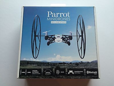 NEW SEALED Parrot Mini Drone Rolling Spider Blue Minidrone Bluetooth Quadcopter