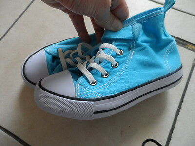Childs canvas trainers, Unisex, Size 11, Pale Blue, Used but clean, L@@K!