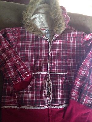 Self Esteem Hoodie Size Medium Red Plaid So Very Cute