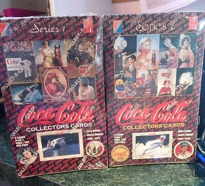 Coca-Cola Trading Cards 2 Factory sealed Boxes Series 1 & 2 Collect A Card