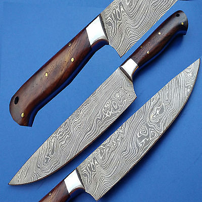 Coltello Damasco Per Cucina Manico Legno Di Color New Damascus Knife