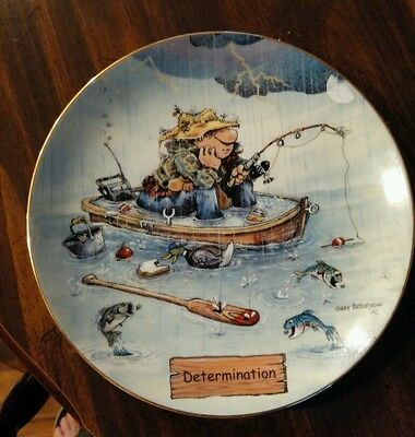Art of Fishing Collector's Plate, DETERMINATION, by Gary Patterson Danbury Mint