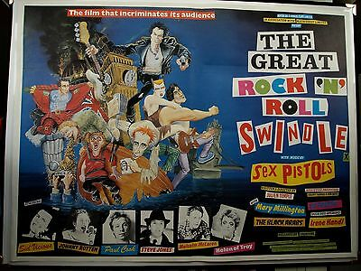 THE GREAT ROCK N ROLL SWINDLE UK Quad Poster