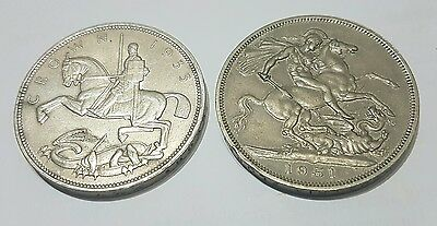 Crown set  - 1935 & 1951 - Good collectable coins
