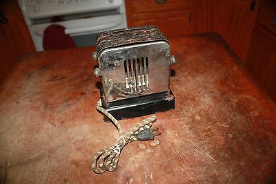 ANTIQUE DOUBLE SIDED CHROME ELECTRIC TOASTER All Original