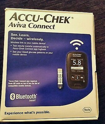 Accu Chek Aviva Connect Glucose Meter- Brand New Sealed in Box