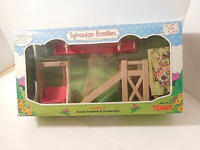 Sylvanian Families Playground Set w/ Box by TOMY #2919 Slide Seesaw Swing Chair