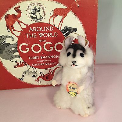 Steiff Gogo Chinchilla ~ ALL IDs! ~ MINT with Story Book!