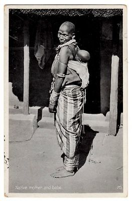 Vintage Postcard Native Mother And Her Baby Photograph