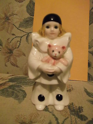 "Schmid 4.5"" Glazed porcelain figurine Pierrot Baby Love - Michel Oks 1981"