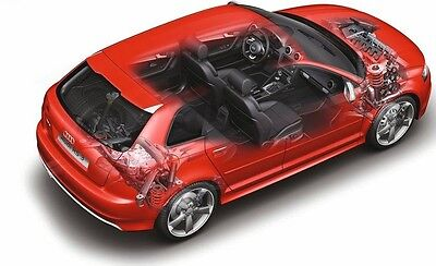 Audi A3 S3 Rs3 Workshop/service Manual Cd 2003 2012