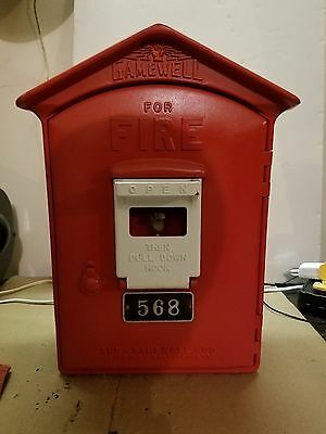 Antique Restored Fire Alarm Call Box Gamewell