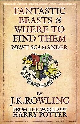 Fantastic Beasts And Where To Find Them - JK Rowling NEW - Read Description