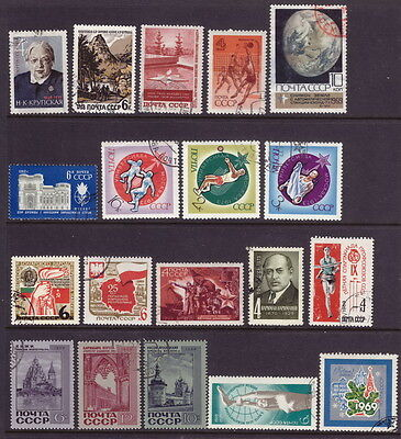 RUSSIA OLD SETS mix USSR CCCP MLH/used from 1962-1973 people sport