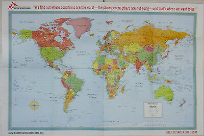 Doctors Without Borders/Medecins Sans Frontiers Rand McNally World Map Poster