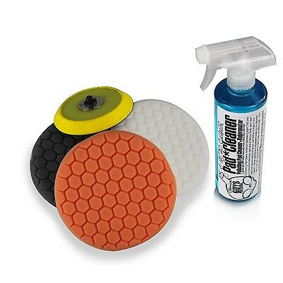 Chemical Guys BUFHEXKITS4 Hex Logic Dual Action/Porter Cable Buffing Pad Samp...