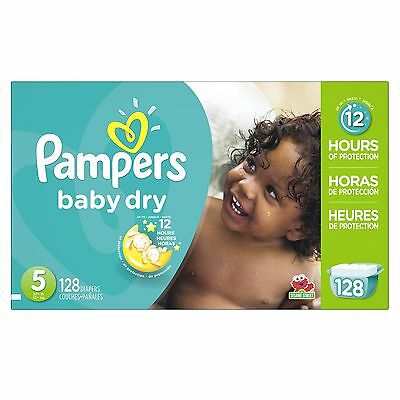 Pampers Baby Dry Size 5 Economy Pack 128 Count- Packaging May Vary