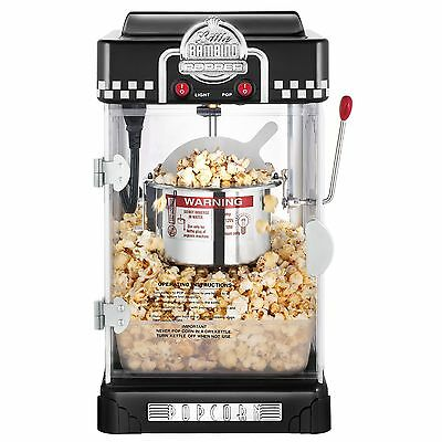 Great Northern Popcorn 2-1/2-Ounce Black Tabletop Retro Style Compact Popcorn...