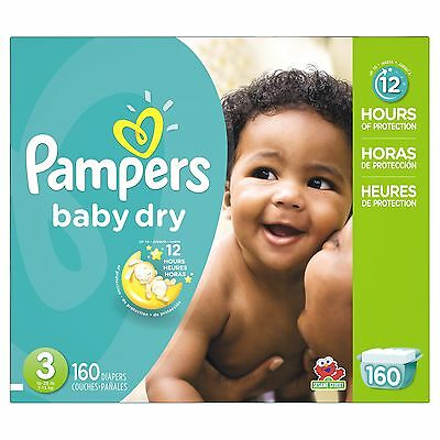 Pampers Baby Dry Size 3 Economy Pack 160 Count- Packaging May Vary