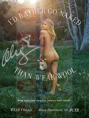 REPRINT RP 8x10 Signed Autographed Photo: Sexy Nude Butt Alicia Silverstone