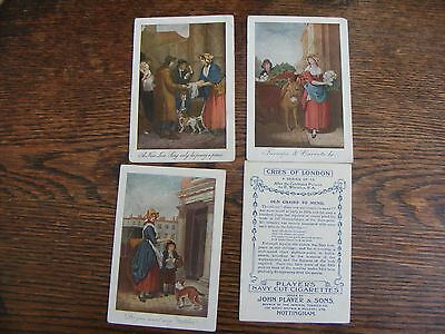 Players Large Cigarette Cards Cries Of London  1912 Four Cards