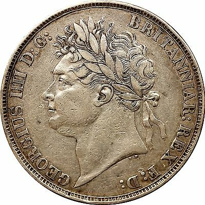1822 George IV Silver Crown Milled (1816-1837)