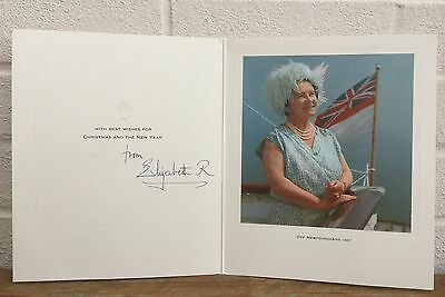 Signed Autograph -Elizabeth Royal Queen Mother- Newfoundland 1967 Christmas Card