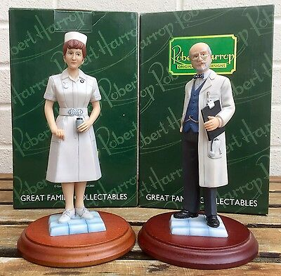 Robert Harrop -Doctor On The Ward Pp03 & Nurse At Bedside Pp06- 2 People Figures