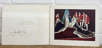 Signed -Elizabeth Royal Queen Mother & Princess Margaret- 1954 Christmas Card