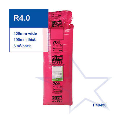 R4.0 | 430mm Pink Batts Thermal Ceiling Insulation