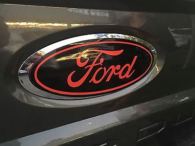 Ford Super Duty F250 F350 F450 2017 2018 Front & Rear Oval Emblem Overlay Decal
