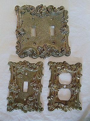 Vintage Lot 3 American Tack Hardware Wall Light Switch Plate Outlet Cover Plug