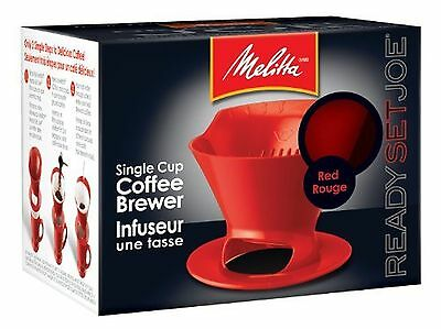 Melitta 640820 Ready Set Joe Filter Cone Pourover Cone Manual Brewer One Cup ...