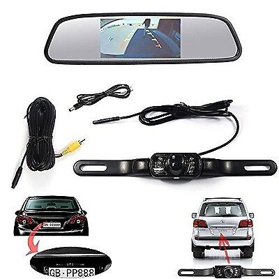Waterproof Backup Camera & 4.3inch Tft-lcd Rearview Parking Monitor Assembly