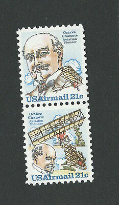 """Stamps, US Airmail   C93 & C94 """"Octave Chanute Engineer  2 @ 31¢ each""""  1978-79"""