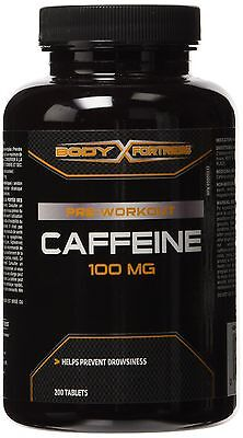 Body Fortress Caffeine 100mg Tablets 200 Count