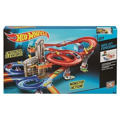 Hot Wheels Auto Lift Expressway Track Set - Brand New In Box