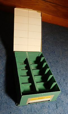 Vintage Kodak Compartment File Holds 240 Cardboard Slides Storage Box Organizer