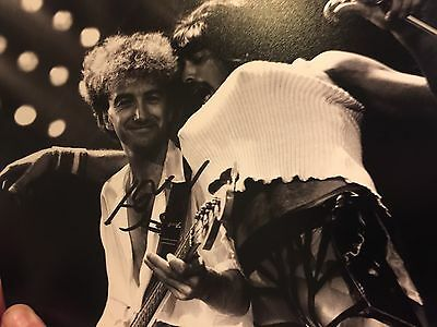 Queen John Deacon signed autograph 10 By 8 Photo Rare Signed In person