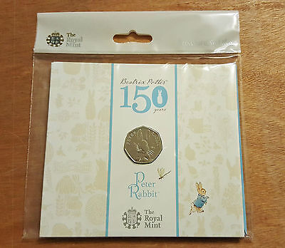Beatrix Potter Peter Rabbit 50p Coin - Sealed in Presentation Pack -